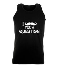 I Moustache You A Question Funny Tache Work Out Vest Mens Gym