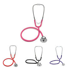 Professional Brand New Double Dual Head Stethoscope Pink Black Red Purple