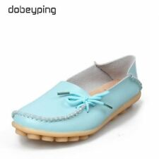 Women Leather Shoes Moccasins Mother Loafers Soft Leisure Flats  Footwear