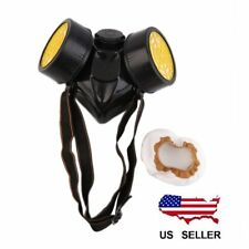 Emergency Survival Respiratory Gas Mask With 2 Dual Protective Filter Black BG