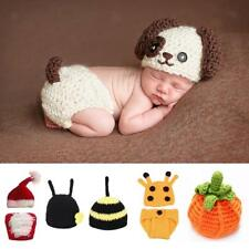 Infant Baby Girl Boy Knit Clothes Photo Crochet Costume Photography Prop Outfit