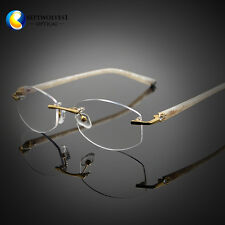 Designer Women's Rimless Reading Glasses UV400 Coating Lens Reader +0.00 ~+5.00