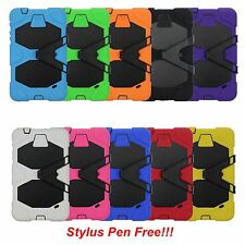 Full Shockproof Heavy Duty Hybrid Silicone+PC Stand Hard Case For Apple iPad New