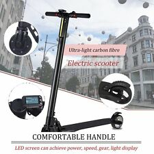 Carbon Fiber Electric Kick Scooter Foldable EScooter Free Shipping 6.6AH/8.8AH