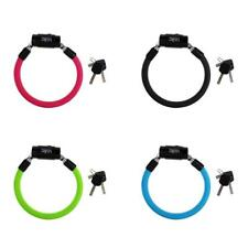 Bicycle Cycle Bike Safety Spiral Steel Cable Lock Anti-theft Lock 2 keys