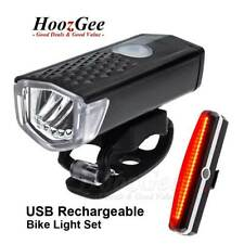 USB Rechargeable MTB Road Bike Bicycle LED HeadLight Front & Rear Tail Lamp Set