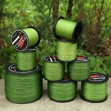 Super Strong 4Strands 300-1000M Army Green Spectra Braided Fishing Line 10-150LB