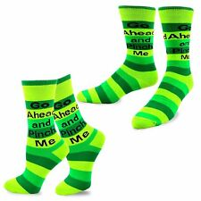 TeeHee St. Patricks Day Woman and Man Couple Cotton Crew Socks 2-Pack