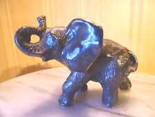 CURIOUS AFRICAN ELEPHANT COLLECTIBLE STATUE SCULPTURE FIGURE METAL ANIMAL