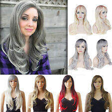 Fashion Full Wig Long Curly Wavy Hair Synthetic Highlight Cosplay Daily Wigs US