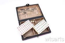 Small Antique Style Box Chinese Mah jong, Ma Jiang, Mahjong (Travel Sized)