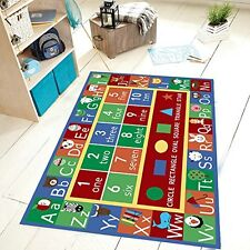 Kids Abc Alphabet Numbers Educational Non Skid Rectangle Area Rug