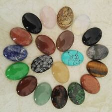 Cabochon Natural Stone For Jewelry Making 25x18mm Assorted Oval Shape Beads