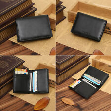 Men's Leather Wallet Bifold ID Credit Card Holder Purse Money Clip US Location