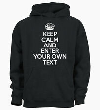 PERSONALISED YOUR TEXT KEEP CALM AND CUSTOM Kids Hoody Hoodie Youth