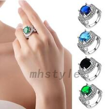 Glittering Wedding Party Anniversary Engagement Crystal Finger Promised Ring Hot