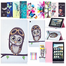 Flip Leather Wallet Stand Protective Case Cover For Amazon Kindle Fire HD 8 2016