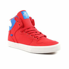 Supra Mens Vaider D Lace Up Active Gym Hi Top Red Royal Blue White Trainer