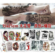 New Removable Temporary Tattoo Large Arm Body Art Tattoos Sticker Waterproof Hot