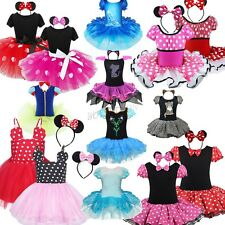 Girls Kids Minnie Mouse Dress Up Cosplay Party Fancy Costume Ballet Tutu Skirt