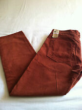 NWT Mens Dockers Corduroy Straight Flat Front Pants Bark Color Sz.32 34 36 40