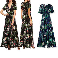 Casual Women Maxi Sundress Summer Boho Long Evening Party Cocktail Dress Fashion