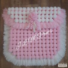 Handmade Pom Pom Blankets Various Sizes and colours
