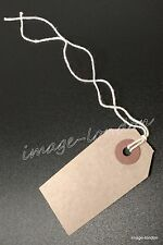 Manila Brown Buff Strung Tags Hardware Labels Retail Luggage tags with string