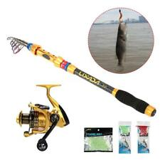 Spinning  Saltwater Freshwater Lure Rod Set Spinning Rod and Fishing Reel S2Z8