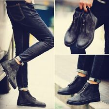 Men's Winter Fashion Casual Korean Leather High top Suede Ankle Boots Shoes
