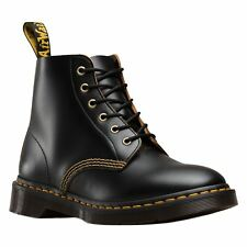 Dr.Martens 101 Arc 6 Eyelet Black Womens Leather AirWair Lace-up Ankle Boots