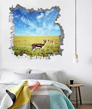3D Deer Grass 735 Wall Murals Stickers Decal breakthrough AJ WALLPAPER AU Lemon