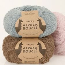 DROPS ALPACA BOUCLE 80%ALPACA 15%WOOL CURLY LOOPY ARAN KNITTING YARN 50g