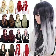 Fashion Full Wig Long Curly Wavy Hair Synthetic Cosplay Daily Wigs For Women HOT