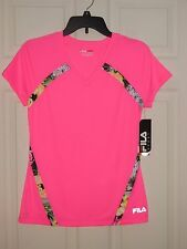NWT NEW Fila Sport Wicking T shirt top Size Small Large Pink Tropical Athletic