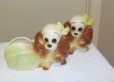 Pair Of Hull Art Pottery Puppy Dog Planters marked USA 88