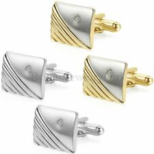 Men's Silver Gold Tone Square Cufflinks Wedding Party Gift Shirt Cuff Links New