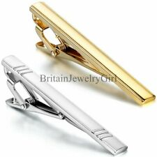 Men Metal Silver Gold Tone Simple Necktie Tie Bar Clasp Clip Clamp Pin Gift New