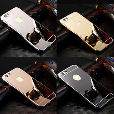 Luxury Ultra thin Aluminum Bumper Metal Mirror Hard Case Cover for iPhone Models