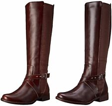 STEVEN by Steve Madden Women's Sydnee Wide Calf Motorcycle Riding Boot US