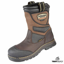 Dr Marten DM Docs Turbine Brown Waterproof 100% Metal Free Safety Rigger Boots