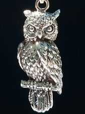 Great horned Owl Sterling Silver Pendant by Peter Stone Fine Jewelry