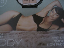 MARKS & SPENCERS BLACK BODY SMOOTH UNDERWIRED NON PADDED BALCONY BRA 32 34 A B C
