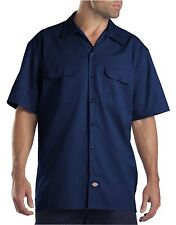 Dickies Dark Navy 1574 Traditional Short Sleeve Work Shirt Size S-3XL NWT