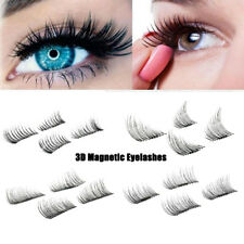3D Magnetic 4 pcs False Eyelashes No Glue Handmade Natural Extension Eye Lashes