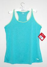 NWT FILA Women's Heather Aqua Blue Cross Drape Singlet Racerback Tank Top, Sz XL