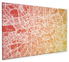 Map of London Contemporary Box Canvas and Poster Print (771)