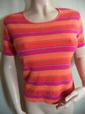 Petite Sophisticate Blouse: Sz P Gray, Bright Striped, Beige or Sz PS Orange VGC