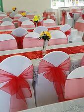 London HIRE ONLY! SPECIAL OFFER- 100 white wedding chair covers