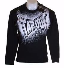 Bnwt Authentic Men's Tapout Long Sleeve Ribbed T Shirt Crew Neck Black MMA UFC